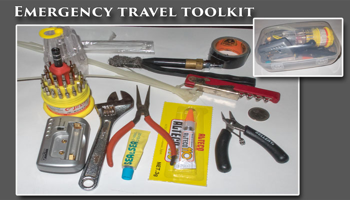 Be prepared for problems - Carry an emergency toolkit!
