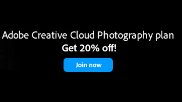 20% OFF the Adobe Creative Cloud Photography Plan